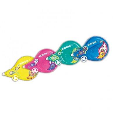 Korekcinė juostelė KORES Fantasy Scooter Paisley, įvairių spalvų, 8m x 4,2mm