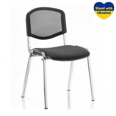 Lankytojų kėdė ISO NET CHROME, tekstilė, C-11, juoda sp.