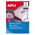 Lipnios etiketės APLI, 105 x 74 mm, A4, 8 lipdukai lape, 500 lapų, balta sp