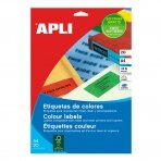 Lipnios etiketės APLI, 210 x 297 mm, A4, 1 lipdukai lape, 20 lapų, žalia