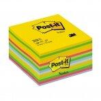 Lipnūs lapeliai POST-IT Ultra kubas, 76 x 76 mm, 450 lapelių, įvairios spalvos