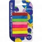 Lipnūs žymekliai, CENTRUM plastikiniai, 8 x 45 mm, 8 spalvos, po 20 lapelių