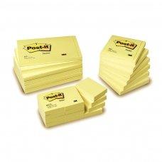 Lipnūs lapeliai POST-IT, 76 x 76 mm, 100 lapelių, geltona