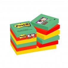 Lipnūs lapeliai POST-IT SUPERSTICKY MARRAKESH 47.6x47.6mm, įvairios spalvos, 12 vnt./pak.