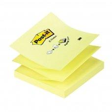 Lipnūs lapeliai POST-IT Z, 76 x 76 mm, 100 lapelių, geltona