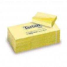 Lipnūs lapeliai TARTAN, 38 x 51 mm, geltona sp., 12 vnt./pak.