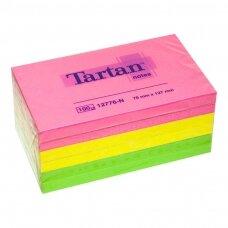 Lipnūs lapeliai TARTAN, 76 x 127 mm, 100 lapelių, įvairios spalvos, 6 vnt.