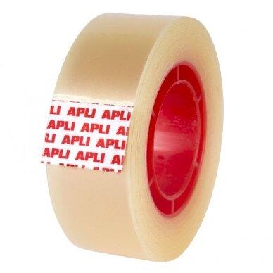 Lipni juostelė APLI, 19 mm x 33 m, skaidri 2