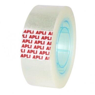 Lipni juostelė APLI CRYSTAL, 19 mm x 33 m, ypač skaidri 2