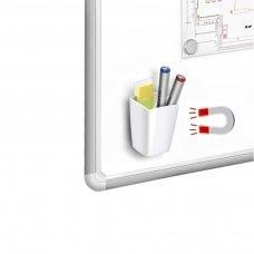Magnetinė pieštukinė CEP, balta sp., 2 skyriai