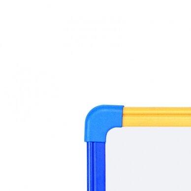 Magnetinė baltoji lenta BI-OFFICE SCHOOLMATE 90x60, spalvotas rėmas