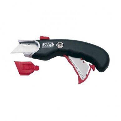 Maketavimo peilis WEDO 18 mm, su saugos mechanizmu