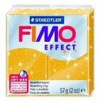 Modelinas FIMO EFFECT, 57 g, su blizgučiais, aukso sp.