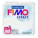 Modelinas FIMO EFFECT, 57 g, su blizgučiais, balta sp.