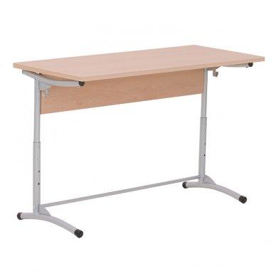 Mokyklinis stalas su priekine panele  NOWY STYL E-173 Alu