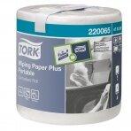 Nešiojamieji popieriniai rankšluoščiai TORK PLUS, 473329, 2 sl., 23.3 x 19.3 cm, 93 m, balta sp.