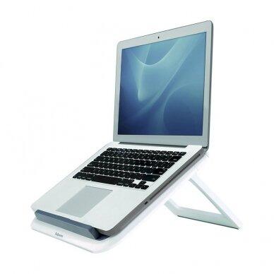 Nešiojamojo kompiuterio stovas FELLOWES I-SPIRE QUICK LIFT, balta/pilka sp.