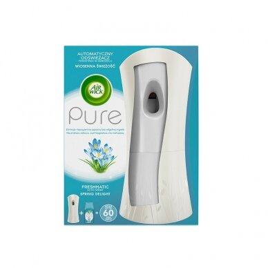 Oro gaivikli dėklas AIR WICK FreshMatic su Pure Spring Delight užpildu, 250 ml
