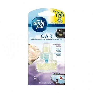 Oro gaiviklio automobiliams pakeitiklis AMBI PUR Car Moonlight Vanilla, 7 ml