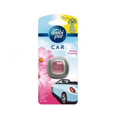 Oro gaiviklis automobiliams AMBI PUR Car Flowers & Spring, 2 ml