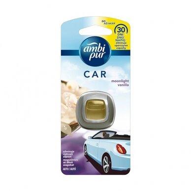 Oro gaiviklis automobiliams AMBI PUR Car Moonlight Vanilla  2 ml