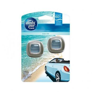 Oro gaiviklis automobiliams AMBI PUR Car Ocean Mist 2X2 ml