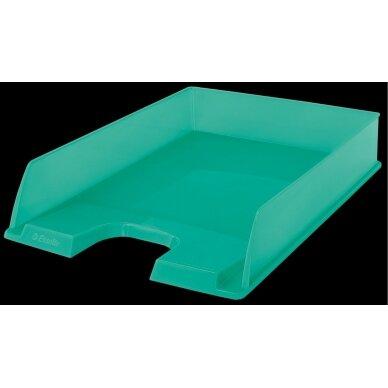 Padėklas dokumentams ESSELTE COLOUR ICE, permatomos žalios sp.