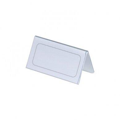 Pastatomos vardinės stalo kortelės DURABLE, 52/104 x 100 mm