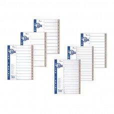 Plastikiniai skiriamieji lapai 1-12, A4