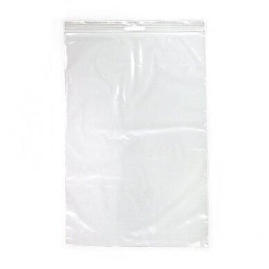 Plastikiniai maišeliai 80 x 120 mm., 100 vnt.