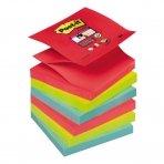 POST-IT® SUPERSTICKY Z-NOTES BORA BORA super lipnūs lapeliai, 76 x 76 mm, įvairios spalvos, 6 vnt./pak.
