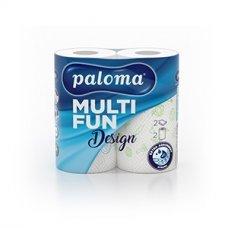 Popierinis rankšluostis PALOMA dekoruotas, 2 vnt.