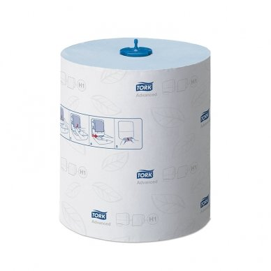Popieriniai rankšluosčiai TORK H1 Advanced Matic, 2 sl., 150 m, mėlyna sp., 290068