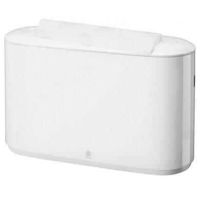 Popierinių rankšluošlių laikiklis TORK Xpress Countertop Multifold 323 x 218 x 116 mm, baltas