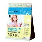 Priklijuojamasis stalinis bloknotas BI-OFFICE Mastervision Education 50x60, lageliais, 20 lapų