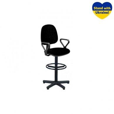 Pramoninė kėdė REGAL, su porankias, tekstilė, C-11, juoda sp.