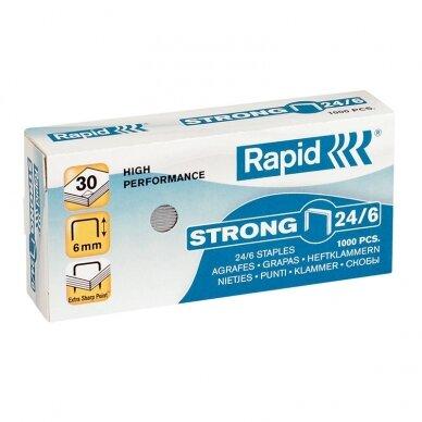 Sąsagėlės Rapid Strong 24/6 (dėž. 1000vnt.)
