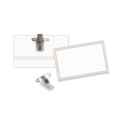 Segama vardinė kortelė FORPUS, 55 x 90 mm, (pak. - 50 vnt.)