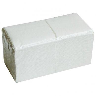 Servetėlės 24x24, 400 vnt., baltos sp.