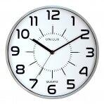 Sieninis laikrodis UNILUX POP, diametras 28cm, sidabrinė sp.