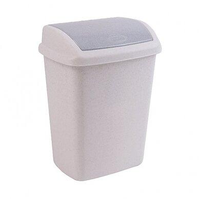 Šiukšlių dėžė plastikinė, su dangčiu 10 l.