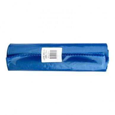 Šiukšlių maišai, stori, 50 mk, 240 l, 1200 x 900 mm, LDPE, 5 vnt., mėlyna sp.