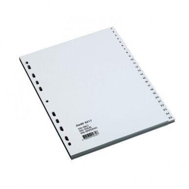 Skiriamieji lapai BANTEX STRONG-LINE, 1-100, A4, PP