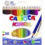 Spalvoti akvareliniai pieštukai CARIOCA, 24 vnt.