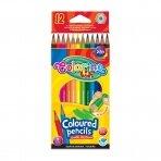 Spalvoti pieštukai COLORINO KIDS, 12 spalvų