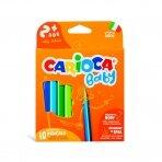 Spalvoti pieštukai mažyliams CARIOCA BABY 2+, 10 vnt.