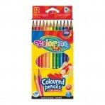 Spalvoti pieštukai, tribriauniai Colorino Kids, 12 spalvų