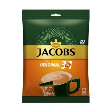 Tirpiosios kavos gėrimas JACOBS 3 in 1, maišelis, 20 x 15,2 g