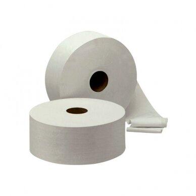 Tualetinis popierius JUMBO, 2-jų sluoksnių, 1900 lapelių rit., 9.1 cm x 380 m, baltos sp. 64020