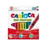 Vaškinės kreidelės CARIOCA 12 spalvų, nuplaunamos